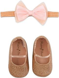 Rising Star Baby Girls' Shoes and Headband Gift Box Set