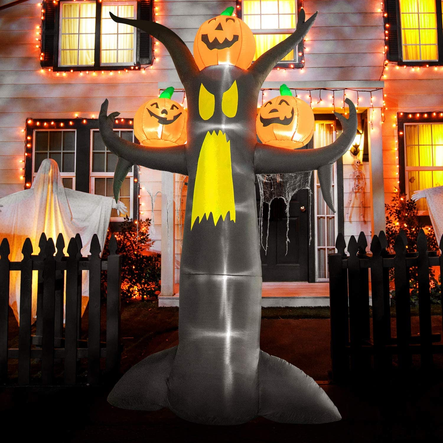 Rocinha 10 ft Halloween Inflatables Time sale with Charlotte Mall Tree Pumpkins Yard Dead