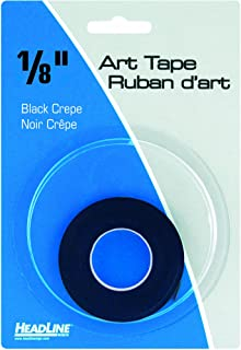 Headline Sign 73081 Graphic Art Tape, Black, 1/8-Inch Wide, 324 Inches Long
