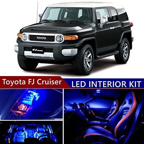 Toyota FJ Cruiser 2007-2014 LED Premium Blue Light Interior Package Kit (9 pcs