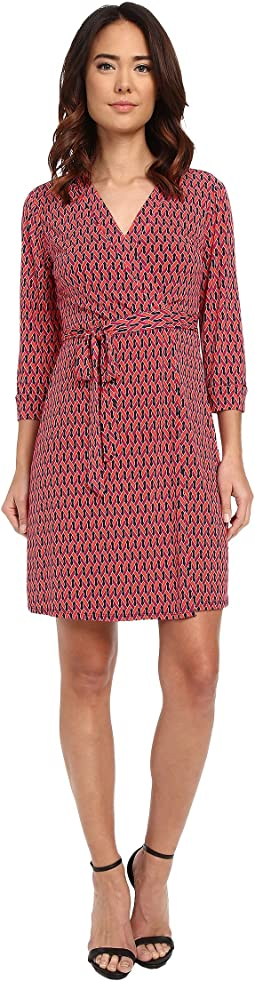 Chain Glam' Matte Jersey Wrap Dress