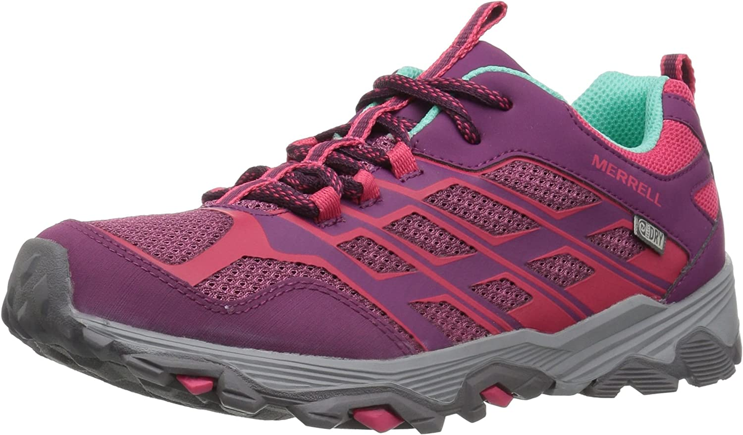 Merrell Moab Fst Low Waterproof Turnschuhe (Little Kid Big Big Big Kid), Berry, 7 Wide US Big Kid 72b
