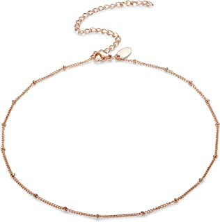 1-10 PCS Choker Necklaces for Women Teen Girls Long Layered Y Necklaces Curb Chain Necklace Adjustable