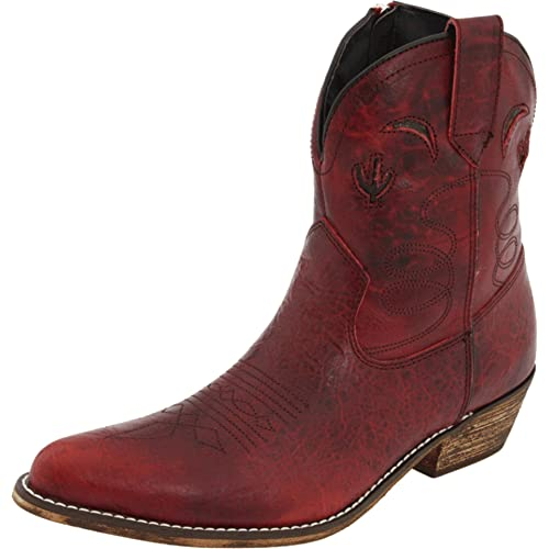 US M Old West Toddler-Girls Cowboy Boot Red 6 D