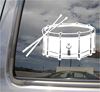 Right Now Decals Snare Drum - Side Percussion Band Drumming - Cars Trucks Moped Helmet Hard Hat Auto Automotive Craft Laptop Vinyl Decal Store Window Wall Sticker 10192
