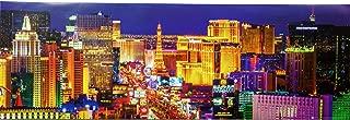 GB eye Las Vegas Strip at Night Panorama. Art Print Poster (36 x 12)