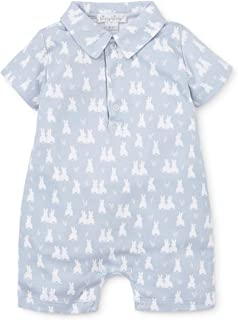 Kissy Kissy Baby-Boys Infant Cushy Cottontails Silver Print Short Playsuit with Collar