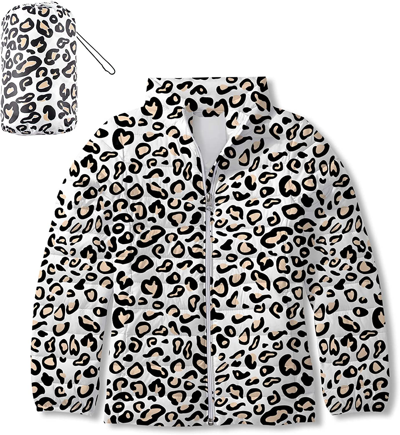 Enlifety Girls Puffer Jacket Special Campaign Cute Branded goods Coat Puffy Warm Print Outwear