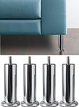 IPEA 4 x poten voor meubels en banken model Aquamarina met sokkel - set met 4 poten van ijzer - poten in minimalistisch de...