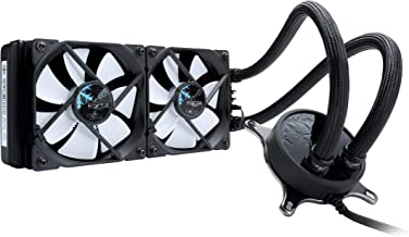 "Fractal Design Celsius S24-284 mm Radiator - Silent Liquid CPU Cooler - PWM - Intelligent Controls - 2X Dynamic X2 PWM GP-12 120mm Silent Fans Included - 1/4"" Fitting - Blackout"