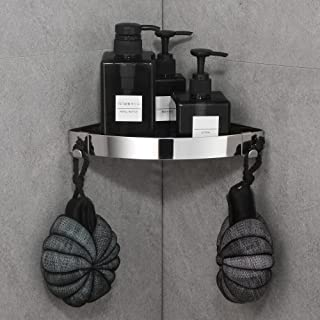 DUFU Shower Corner Shelf No Drilling Self Adhesive Wall Mounted Not Damaged SUS304 Stainless Steel Rustproof Shower Caddy ...
