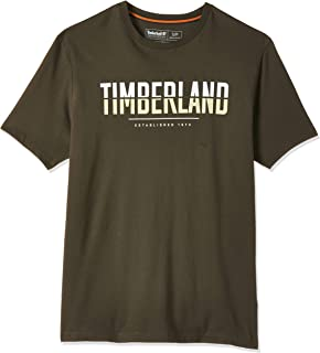 Timberland Men's Linear Logo Two Techniques T-Shirt