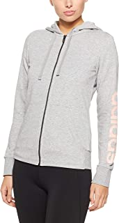 Adidas Women's Essentials Linear Full Zip Hoodied Jacket