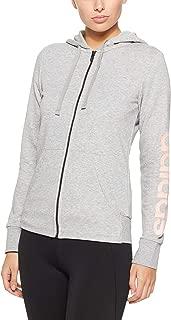 Adidas Women's Essentials Linear Full Zip Hoodied Jacket