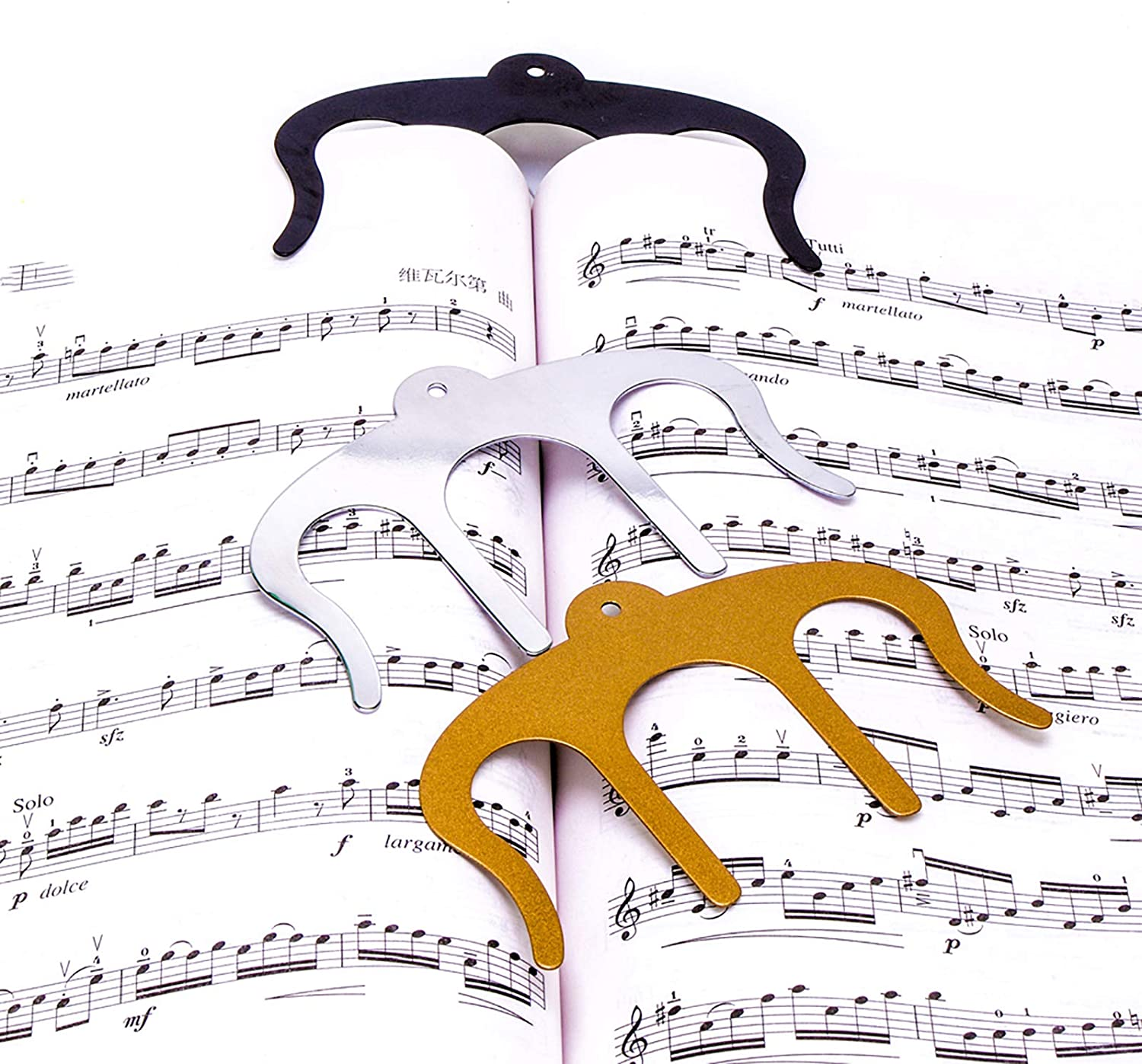 Music Book Clips-Metal Page for Max 43% OFF shop Clip Reading Holders
