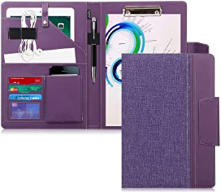 Toplive Portfolio Case Padfolio, Executive Business Document Organizer with Letter Size Clipboard, Business Card Holder, T...
