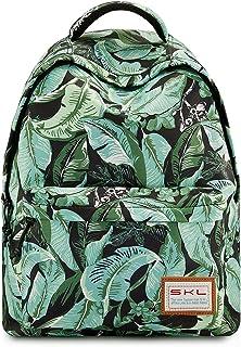 Backpack for Girls, SKL School Fashion Backpack for Teens Girls Teenage Leaf Daypack