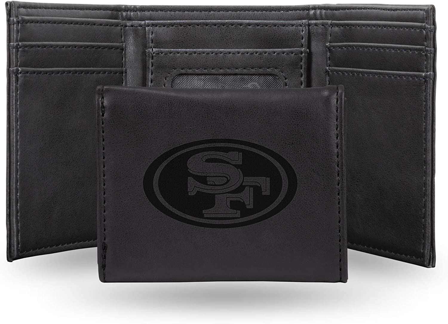 NFL Rico Industries Laser Engraved Francisco San Trifold Max 63% OFF Ultra-Cheap Deals Wallet