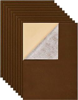 "BENECREAT 12PCS Velvet (Sienna) Fabric Sticky Back Adhesive Felt Sheet11.5""x15.5"", Self-Adhesive, Durable and Water Resist..."