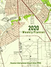 2020 Weekly Planner: Houston International Airport Area (1955): Vintage Topo Map Cover