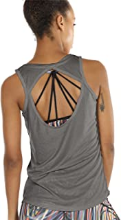 Open Back Yoga Tops for Women - Activewear Workout Clothes Exercise Fitness Tank Tops Gym Shirts