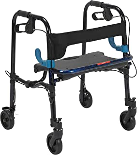 Walker Rollator with Brake and Seat