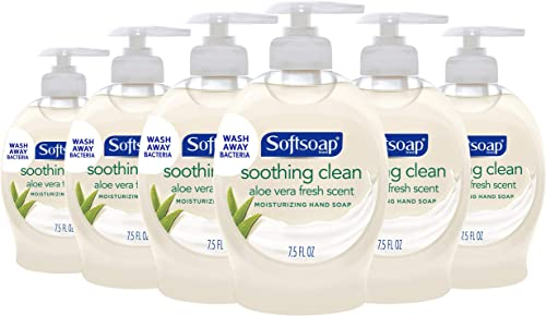 Softsoap Moisturizing Liquid Hand Soap, Soothing Clean Aloe Vera - 7.5 Fluid Ounces (6 Pack)