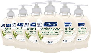 Softsoap Moisturizing Liquid Hand Soap, Soothing Clean Aloe Vera - 7.5 Fluid Ounces (6 Pack)