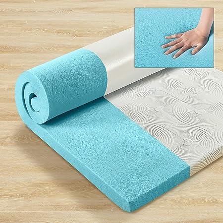 ZINUS 低反発 マットレス セミダブル 厚さ 5cm Gel-Infused 防臭 吸湿性 体圧分散 ジェルメモリーフォーム やわらかめ 敷布団 マットレスパッド 冷感 接触冷感 体温調節 | 圧縮梱包 ベッド ジヌス | 日本正規品 MGT