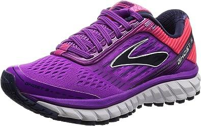 Brooks Women's Ghost 9 W Running Shoes, Pink Purplecactusflower Divapink Patriotblue, 3.5 UK