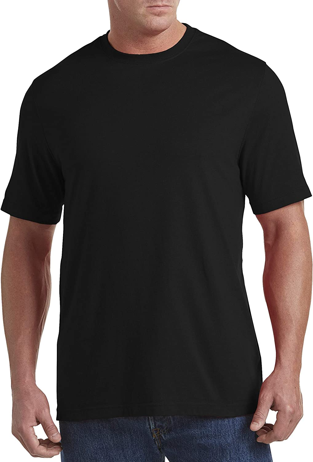 Harbor Bay by DXL Big and Tall Wicking No Pocket T-Shirt