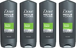 Dove Men+Care Body and Face Wash, Extra Fresh, 18 oz, 4 Count