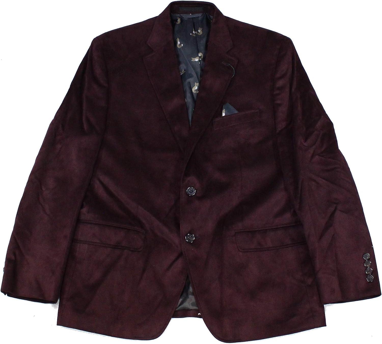 LAUREN RALPH LAUREN Mens Linley Faux Suede Sportcoat Two-Button Blazer