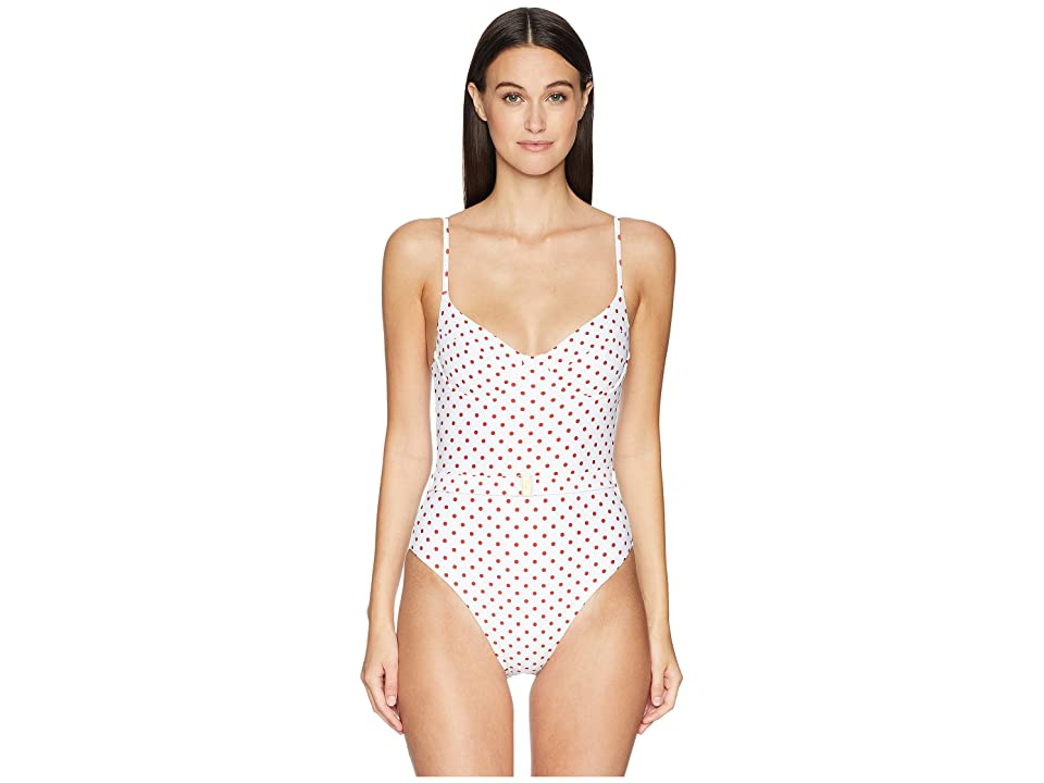 onia WeWoreWhat x onia Danielle One-Piece (White Polka Dots) Women