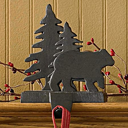 Vintage Collectible Cast Iron Snowman Holding Bear and Reindeer Stocking Hanger FREE SHIPPING!!