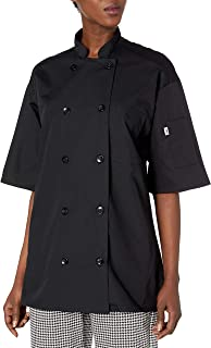 Uncommon Threads Delray Chef Coat with Mesh Short Sleeve 5.25