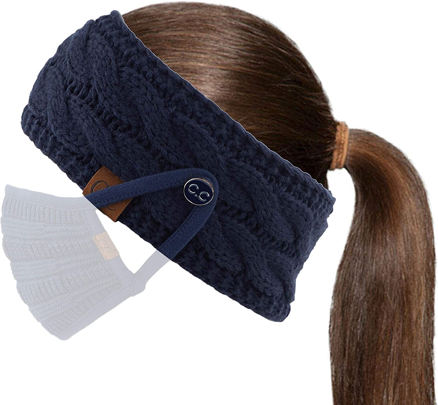 C.C Winter Fuzzy Fleece Lined Headwrap Headband Ranking TOP12 Many popular brands Ea Knitted Thick