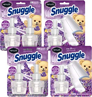 Renuzit Snuggle Scented Oil Plugin Air Freshener, Relaxing Lavender,6 Count ,Combo (6 Refills + 2 Warmers)