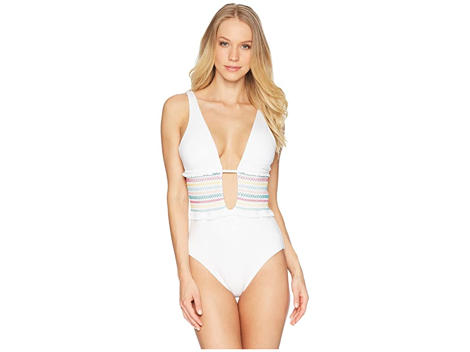 Isabella Rose Crystal Cove One-Piece (White) Women