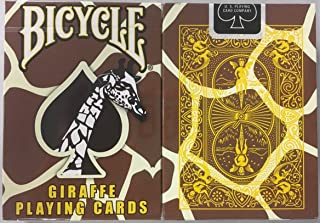 Bicycle Giraffe Deck Playing Cards - Brown Yellow White Skin Back Design by USPC