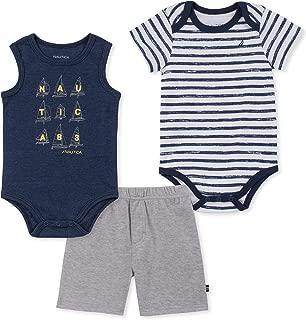 Nautica Baby Boys 3 Pieces Bodysuit Shorts Set