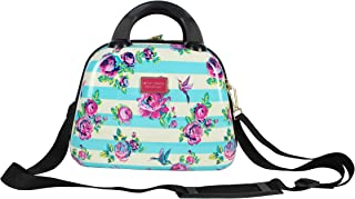 Betsey Johnson Hardside Cosmetic Case - Lightweight Small Size Hardshell Travel Hand Makeup Bag - Adjustable Shoulder Strap - Bag for Women and Girls - Multi-Functional Case (Hummingbird)
