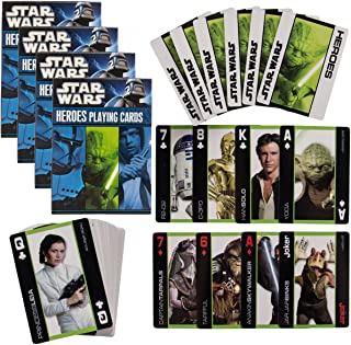 Cartamundi Star Wars 4 Pack Decks Themed Playing Cards Heroes Set Collector Pack