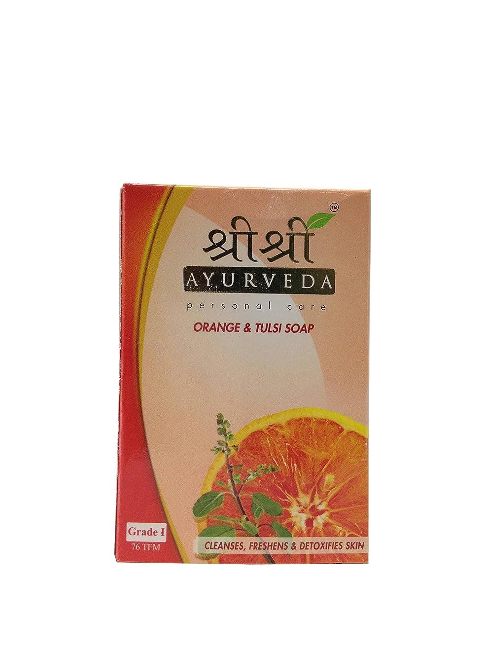 ドラゴンキャンドルこするSri Sri Ayurveda Orange & Tulsi Soap 100g…