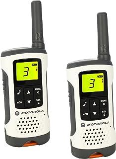 comprar comparacion Motorola Walkie Talkie T50 - Pack 2 unidades - Largo alcance 6 km - 8 + 121 códigos - Batería recargable hasta 16 horas, Gris
