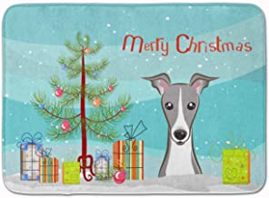 "Caroline's Treasures Christmas Tree and Italian Greyhound Floor Mat 19"" x 27"" Multicolor"