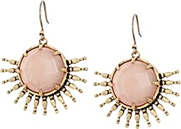 Lucky Brand - Sunburst Drop Crystal Earrings