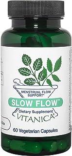 Sponsored Ad - Vitanica Slow Flow, Menstrual Flow Support, Vegan/Vegetarian, 60 Capsules