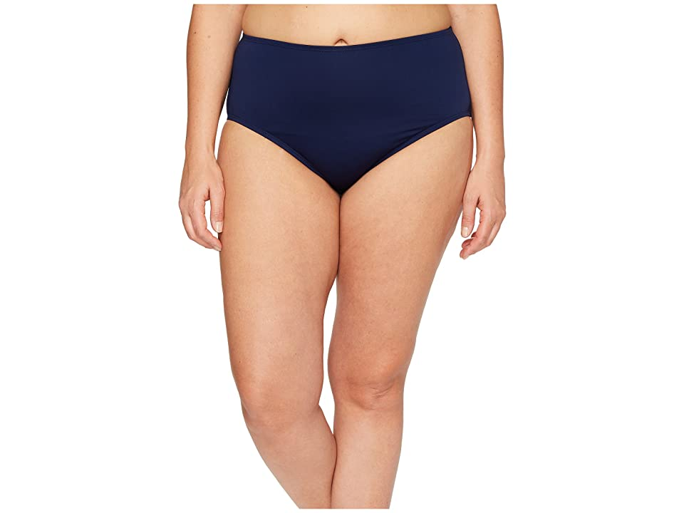 Jantzen Plus Size Solids Comfort Core Bottom (Nocturne Blue) Women