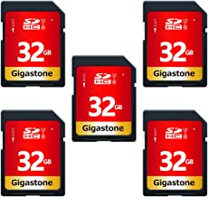 Gigastone 32GB 5 Pack SD Card UHS-I U1 Class 10 SDHC...
